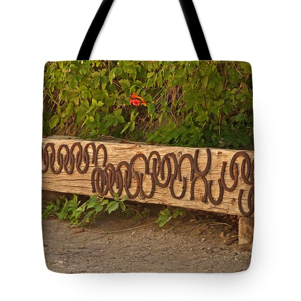 Shoes On The Bench Tote Bag by Bob and Nancy Kendrick