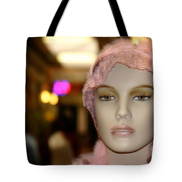Shopping Girl Tote Bag