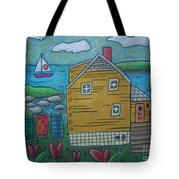 Shore Cottage Tote Bag by Karla Gerard