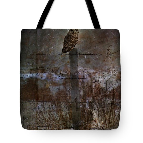 Short Eared Owl Tote Bag by Empty Wall