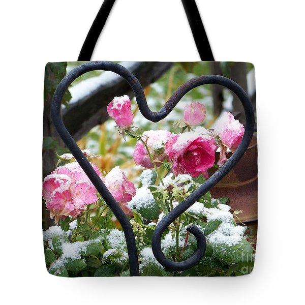 Shot Through The Heart Tote Bag by Dorrene BrownButterfield