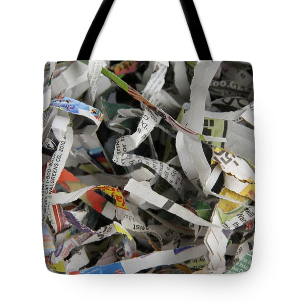 Shredded Paper Tote Bag by Photo Researchers, Inc.