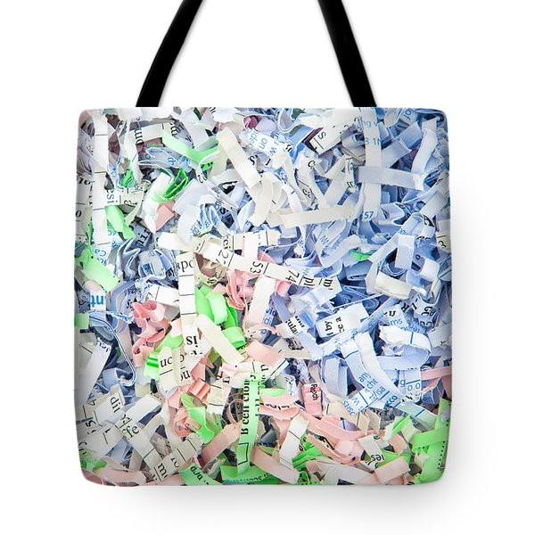 Shredded Paper Tote Bag by Tom Gowanlock