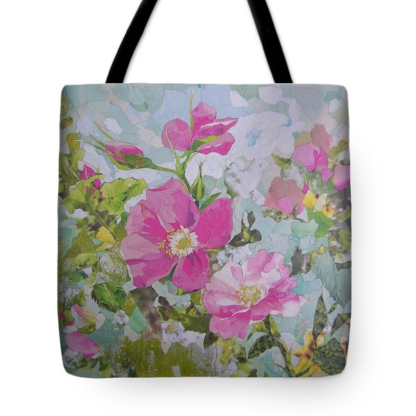 Shrub Roses Tote Bag by Robin Birrell