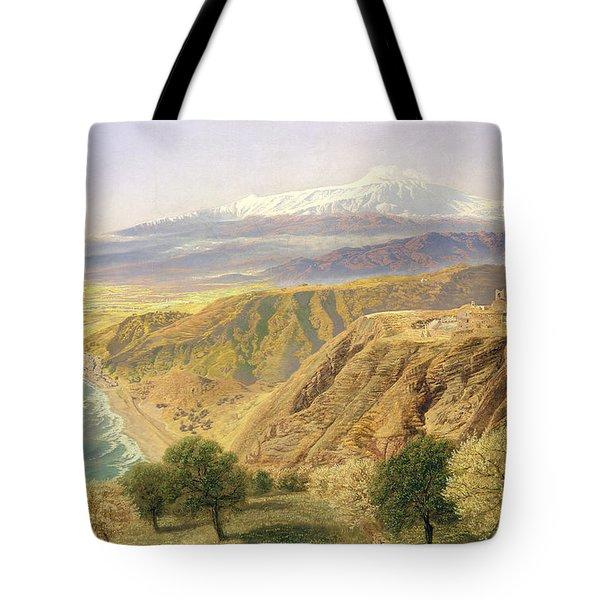 Sicily - Taormina Tote Bag by John Brett