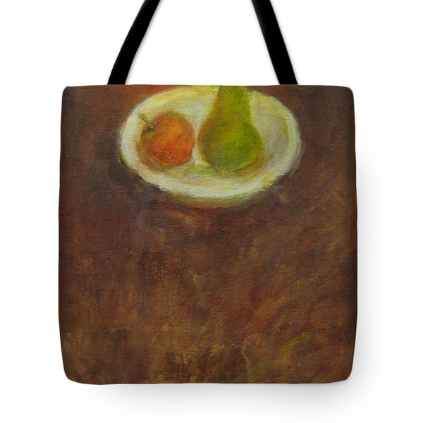 Tote Bag featuring the painting Side By Side by Kathleen Grace