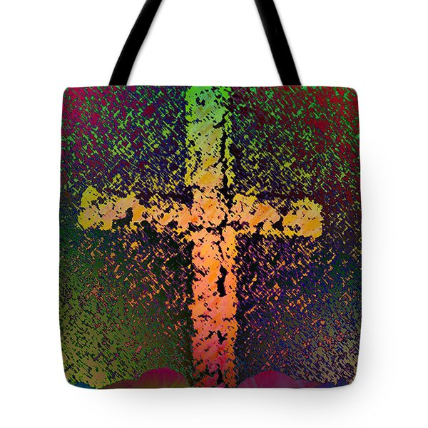 Tote Bag featuring the photograph Sign Of The Cross by David Pantuso