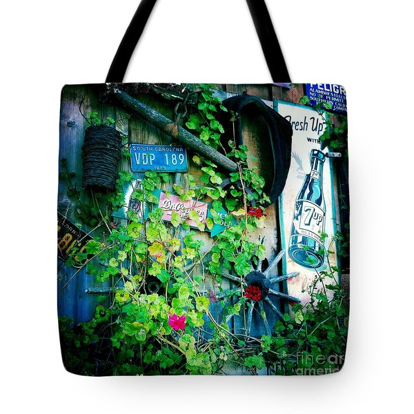 Tote Bag featuring the photograph Sign Wall by Nina Prommer