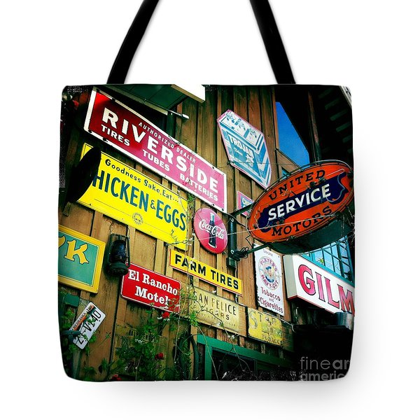 Tote Bag featuring the photograph Signs Of A Great Place by Nina Prommer