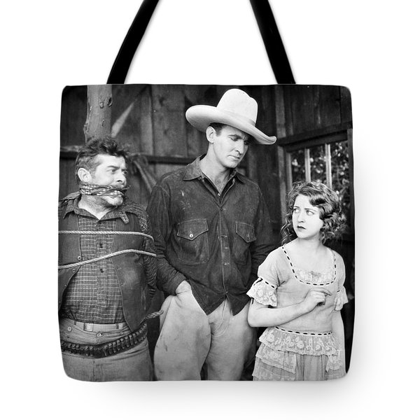 Silent Film: Cowboys Tote Bag by Granger