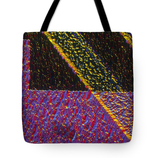 Silicon Solar Cell Tote Bag by Michael Abbey and Photo Researchers