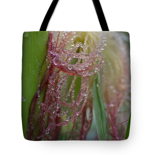 Silk And Pearls Tote Bag by Susan Capuano