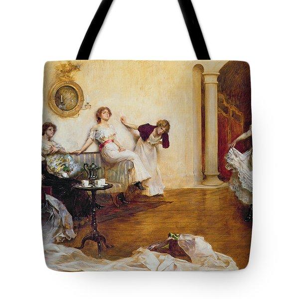 Silks And Satins Tote Bag by Albert Chevallier Tayler