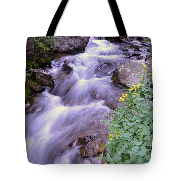 Tote Bag featuring the photograph Silky Stream by Zawhaus Photography