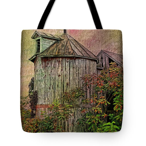 Silo In Overgrowth Tote Bag
