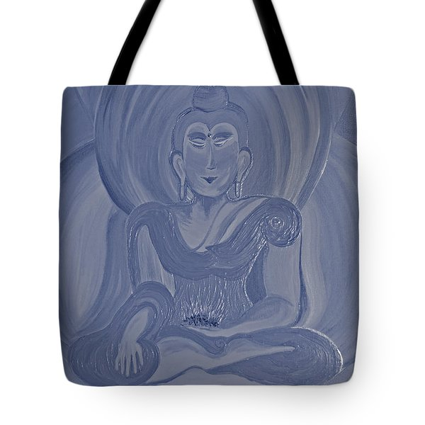 Silver Buddha Tote Bag by First Star Art