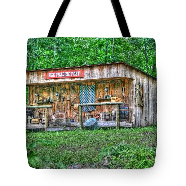 Silver River Trading Post Tote Bag by Myrna Bradshaw