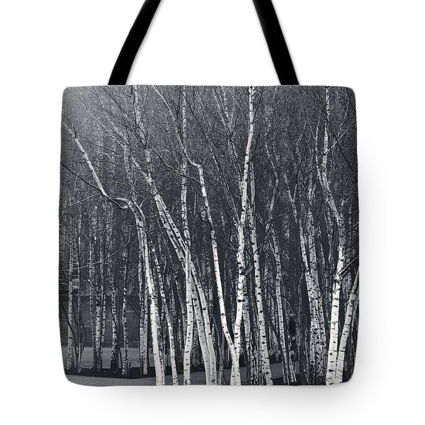Silver Trees Tote Bag