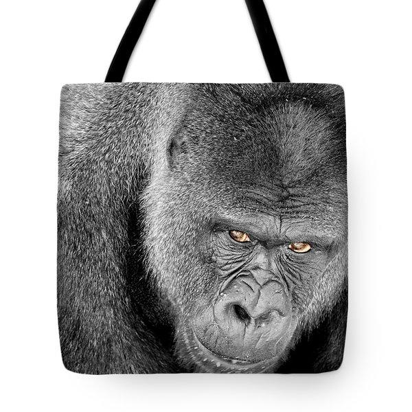 Silverback Staredown Tote Bag