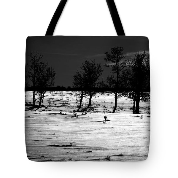 Simple Trees Tote Bag by Empty Wall