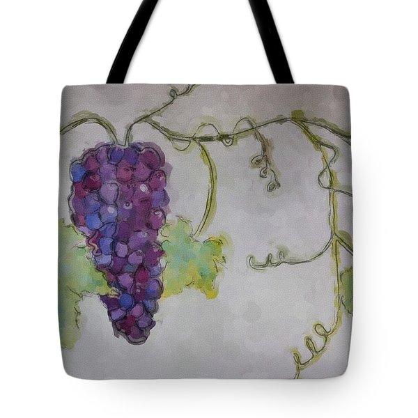 Simply Grape Tote Bag by Heidi Smith