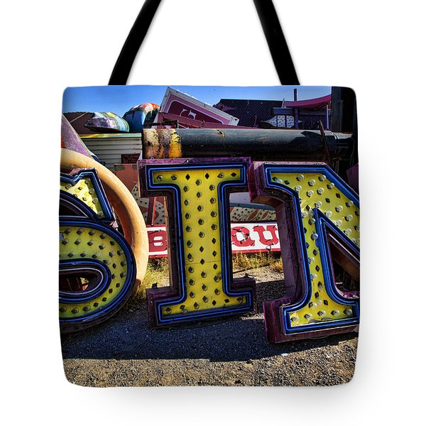 Sin Sign Tote Bag by Garry Gay