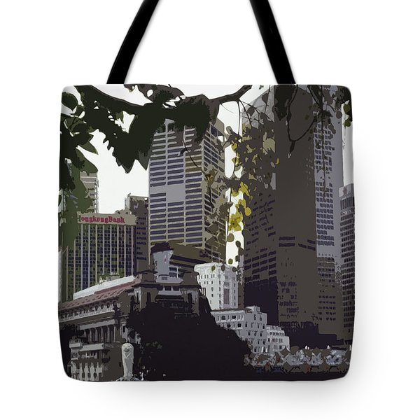 Singapore's Merlion Tote Bag by Juergen Weiss