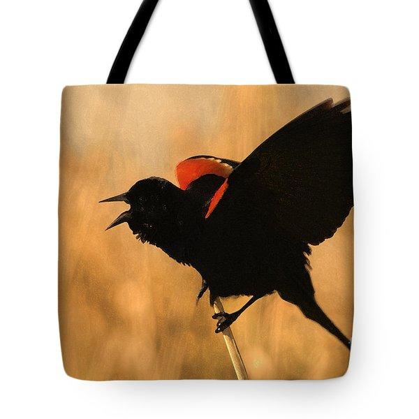 Singing At Sunset Tote Bag