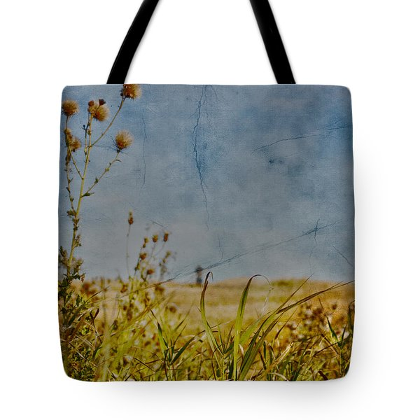 Singing In The Grass Tote Bag by Empty Wall