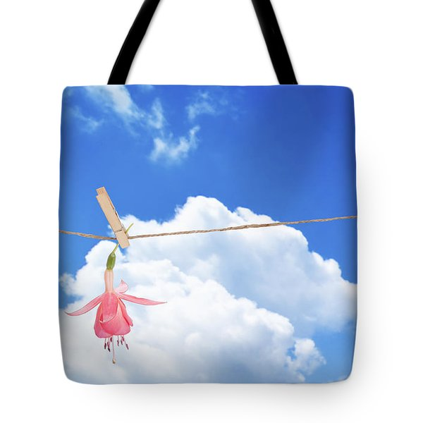 Single Fuchsia Head Tote Bag by Amanda Elwell