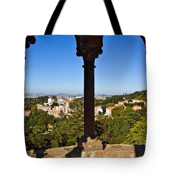 Sintra Balcony Tote Bag by Carlos Caetano