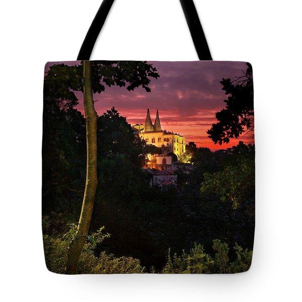 Sintra Palace Tote Bag by Carlos Caetano