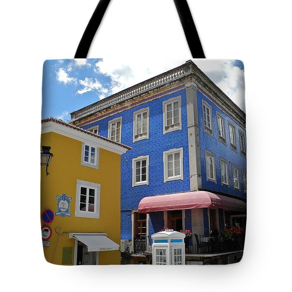 Tote Bag featuring the photograph Sintra Portugal Buildings by Kirsten Giving