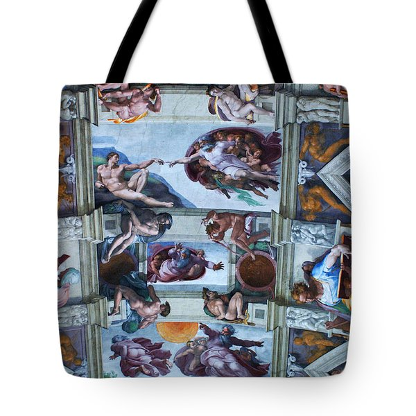Sistine Chapel Ceiling Tote Bag by Bob Christopher