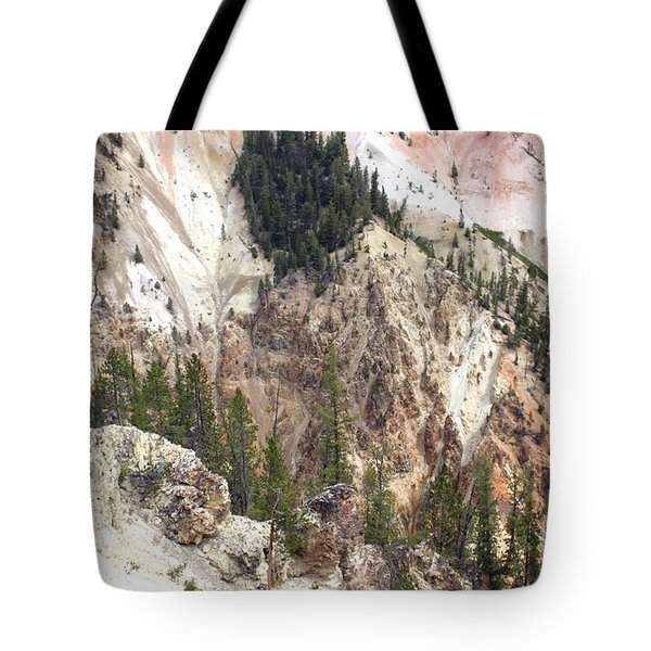 Sit For A Spell At Grand Canyon In Yellowstone Tote Bag by Living Color Photography Lorraine Lynch