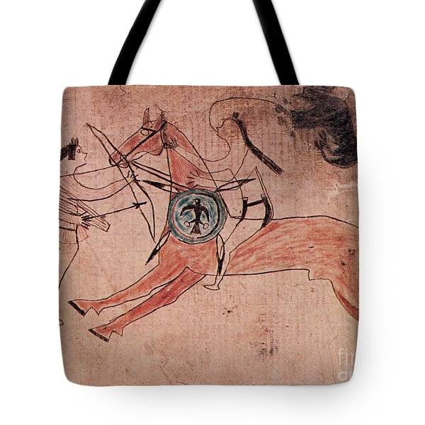 Sitting Bull Wins His First Battle Tote Bag by Photo Researchers