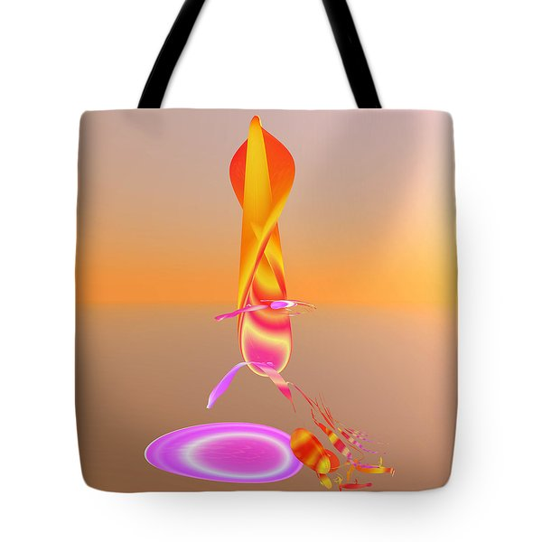 Sitting By The Fire Tote Bag by Betsy Knapp