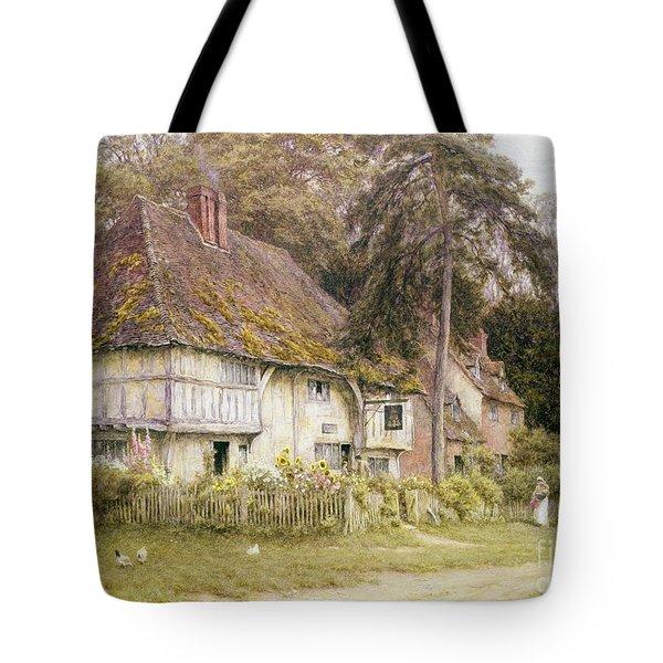 Six Bells Hollingbourne Kent  Tote Bag by Helen Allingham