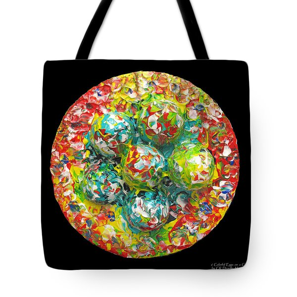 Six  Colorful  Eggs  On  A  Circle Tote Bag by Carl Deaville
