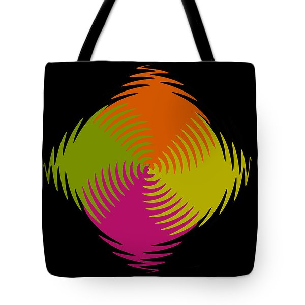 Tote Bag featuring the photograph Six Squared Zigzag by Steve Purnell