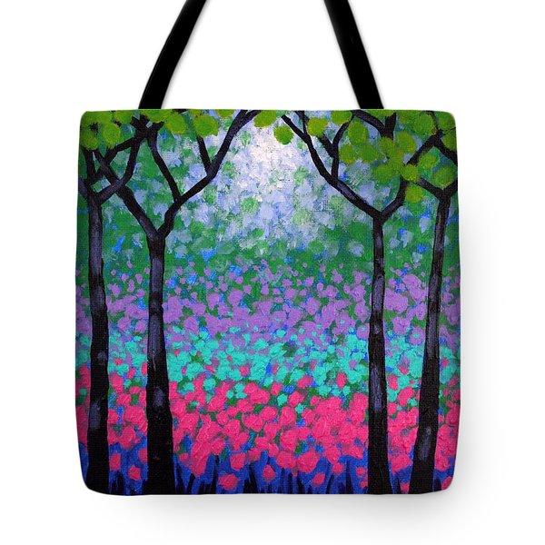 Six Trees Tote Bag by John  Nolan