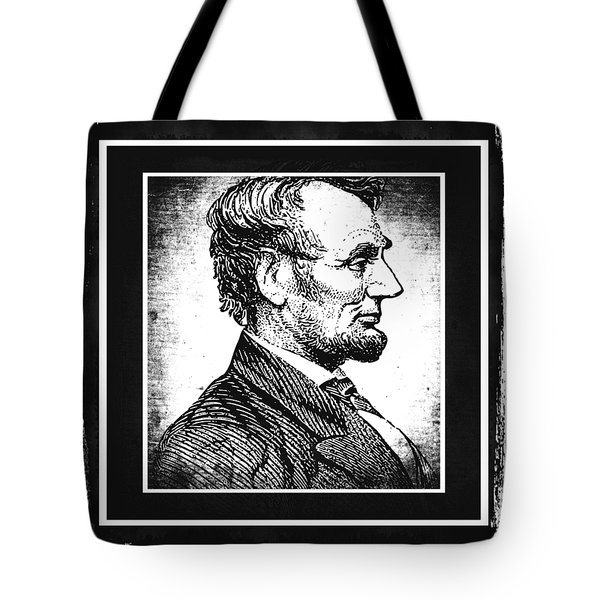 Sixteenth President Bw Tote Bag by Angelina Vick