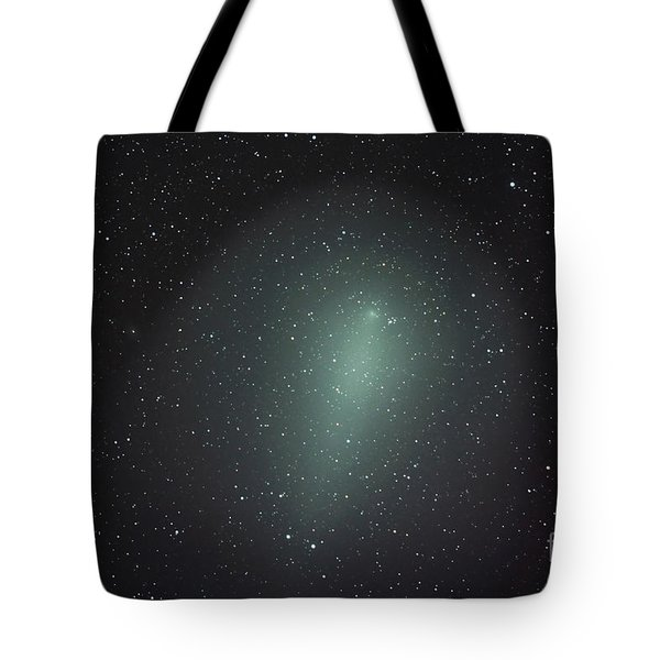 Size Of Comet Holmes In Comparison Tote Bag by Rolf Geissinger