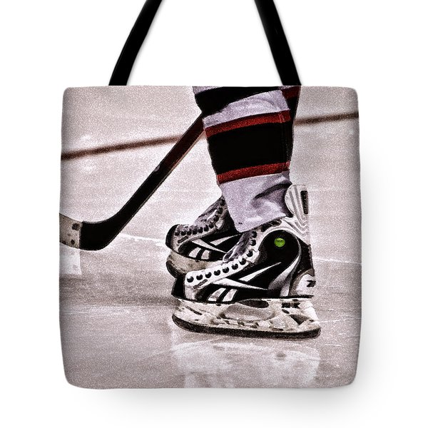 Skate Reflection Tote Bag by Karol Livote