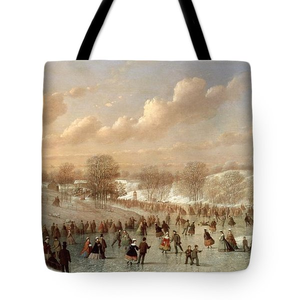 Skating Scene Tote Bag by Johann Mongels Culverhouse