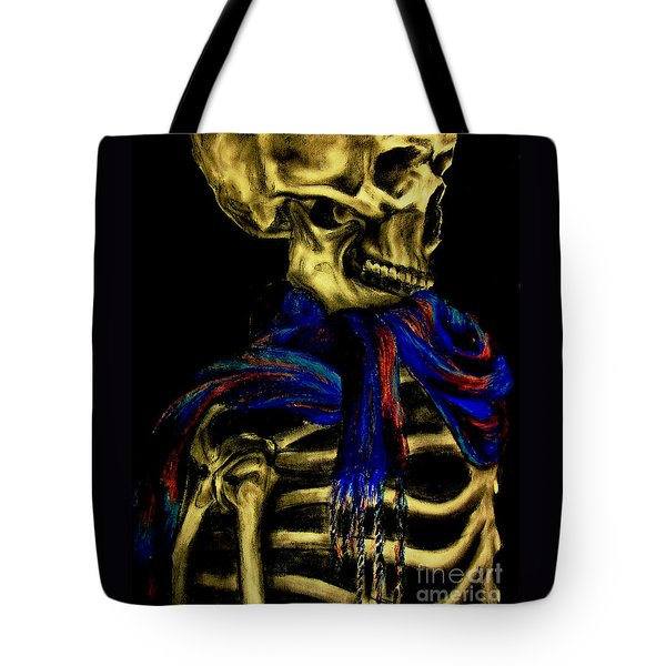 Skeleton Fashion Victim Tote Bag by Tylir Wisdom