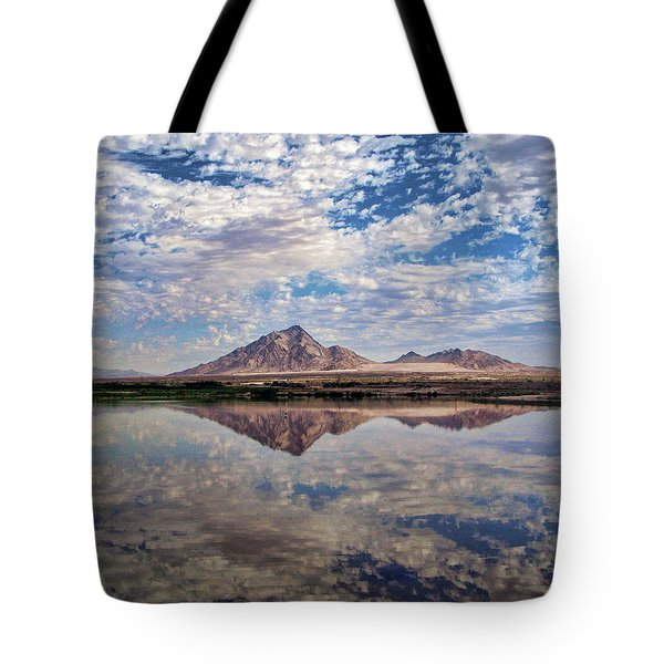 Tote Bag featuring the photograph Skies Illusion by Tammy Espino