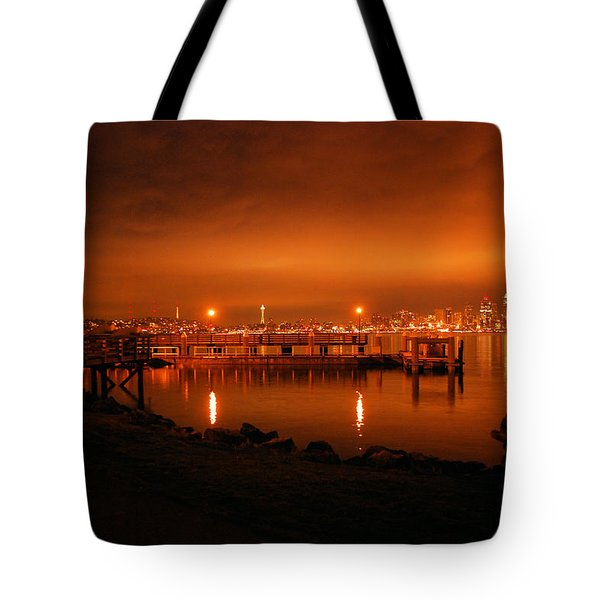Skies On Fire Tote Bag