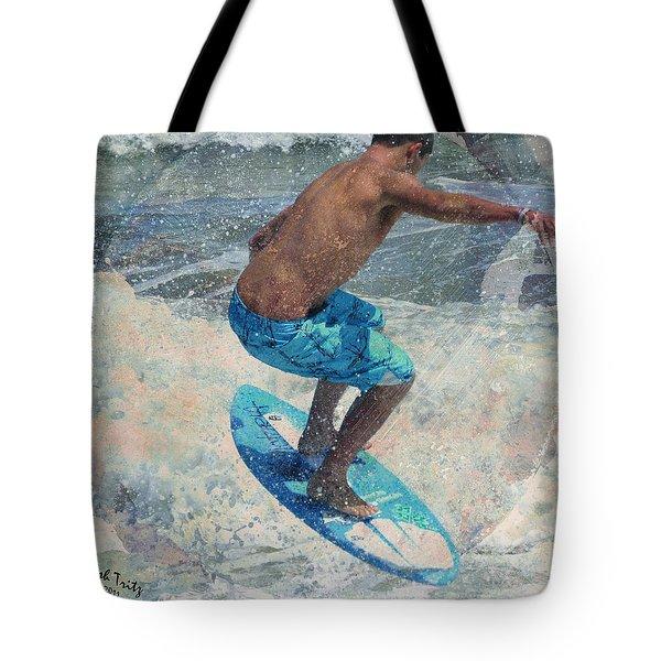 Skimboardin' In Dewey Tote Bag by Trish Tritz