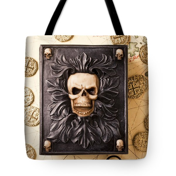 Skull Box With Skeleton Key Tote Bag by Garry Gay
